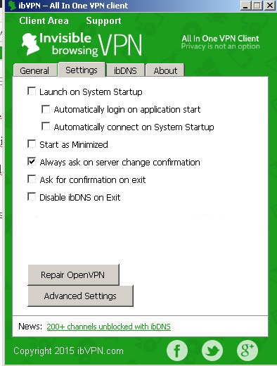options ibvpn