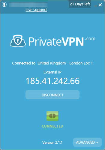 privatevpn connecte